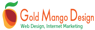 Gold Mango Design Mobile Logo