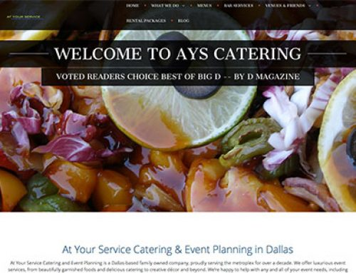 At Your Service Catering, Dallas, TX – Case Study