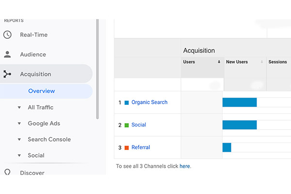 View Website Traffic with Google Analytics