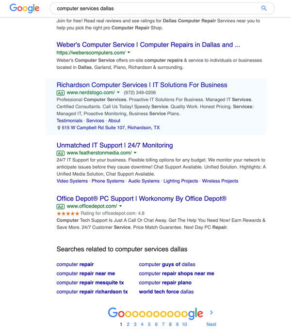 google ads ppc marketing ad