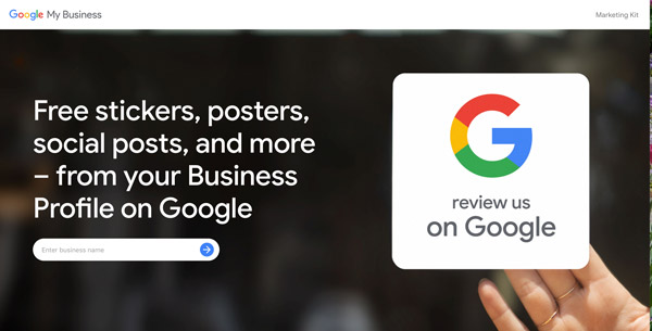 google my business marketing website