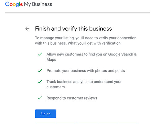google my business - verify business