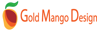 Gold Mango Design Logo