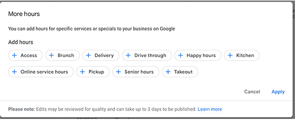 google my business - more features