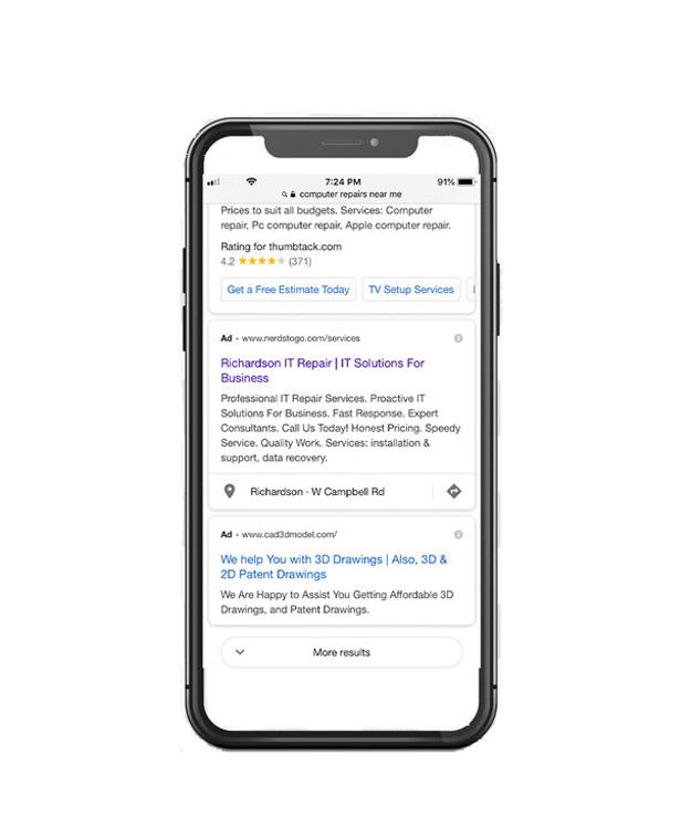 Google Ads PPC Management, NerdsToGo, Richardson, TX