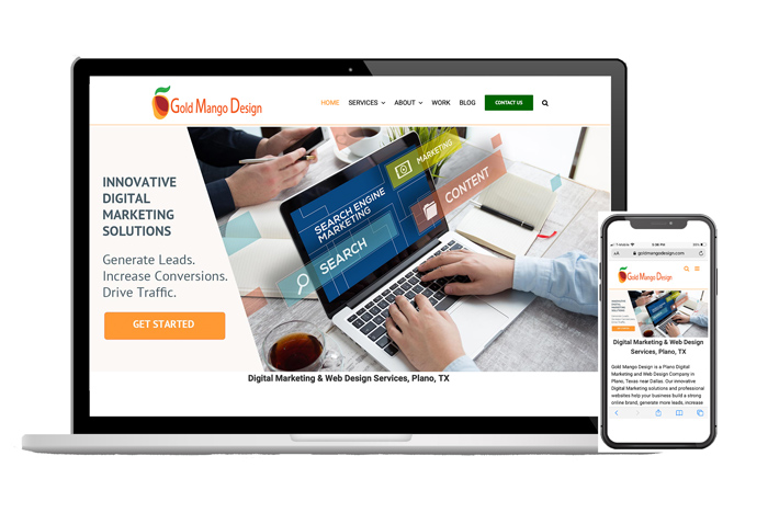 Responsive web design, Gold Mango Design, Plano, TX