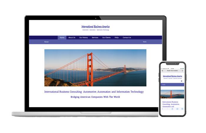 Responsive website design, IBAWorld, Plano TX