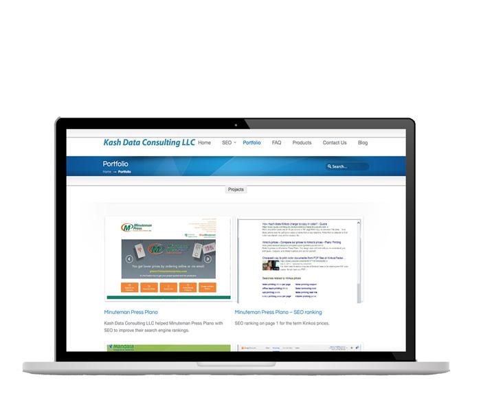 WordPress Website updates, Kash Data Consulting, Plano, TX