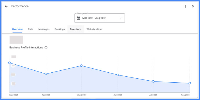 Google My Business Insights - Profile Performance Report
