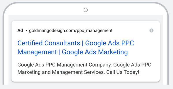 responsive search ad example
